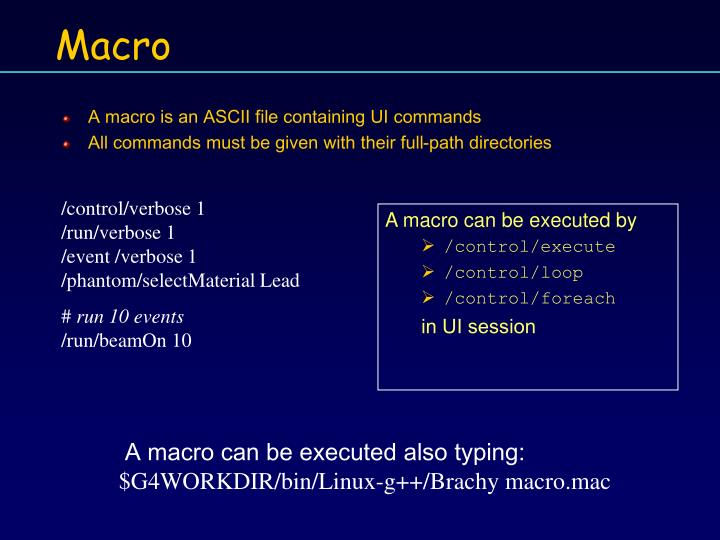 A macro is an ASCII file containing UI commands
