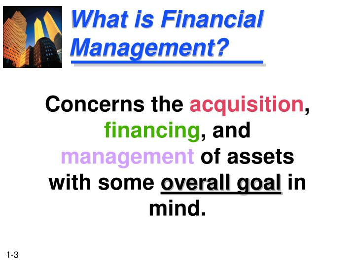 What is financial management