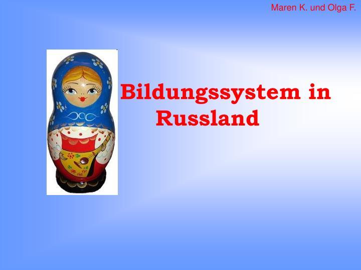 bildungssystem in russland n.