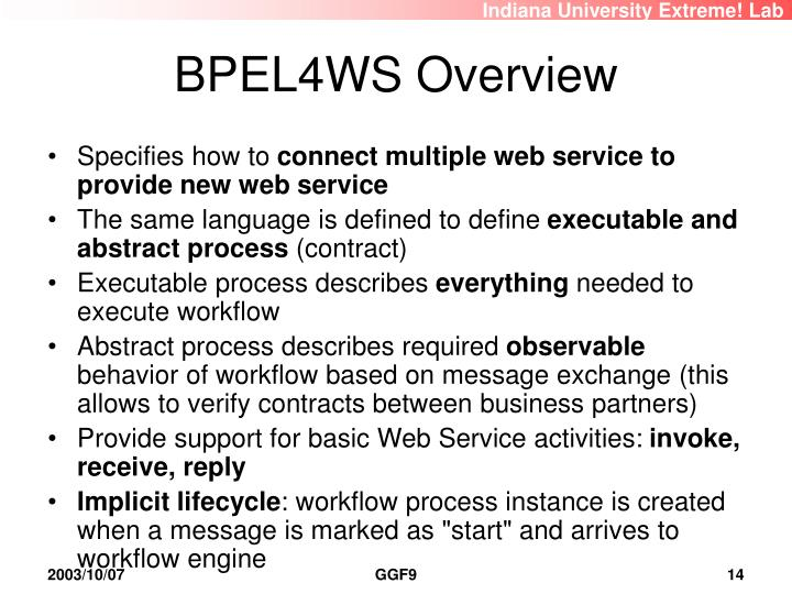 BPEL4WS Overview