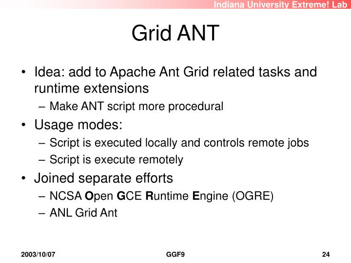 Grid ANT
