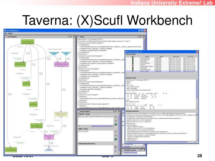 Taverna: (X)Scufl Workbench