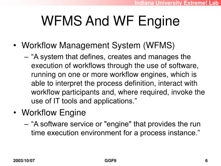 WFMS And WF Engine