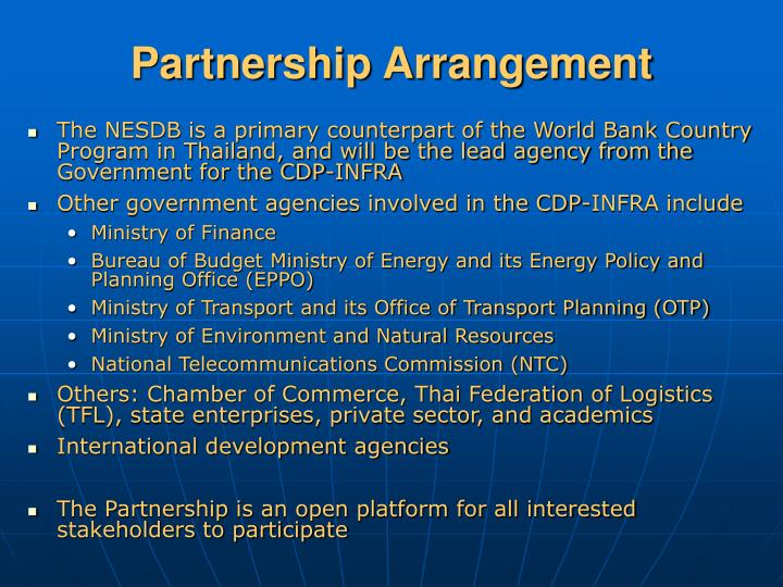 Partnership Arrangement