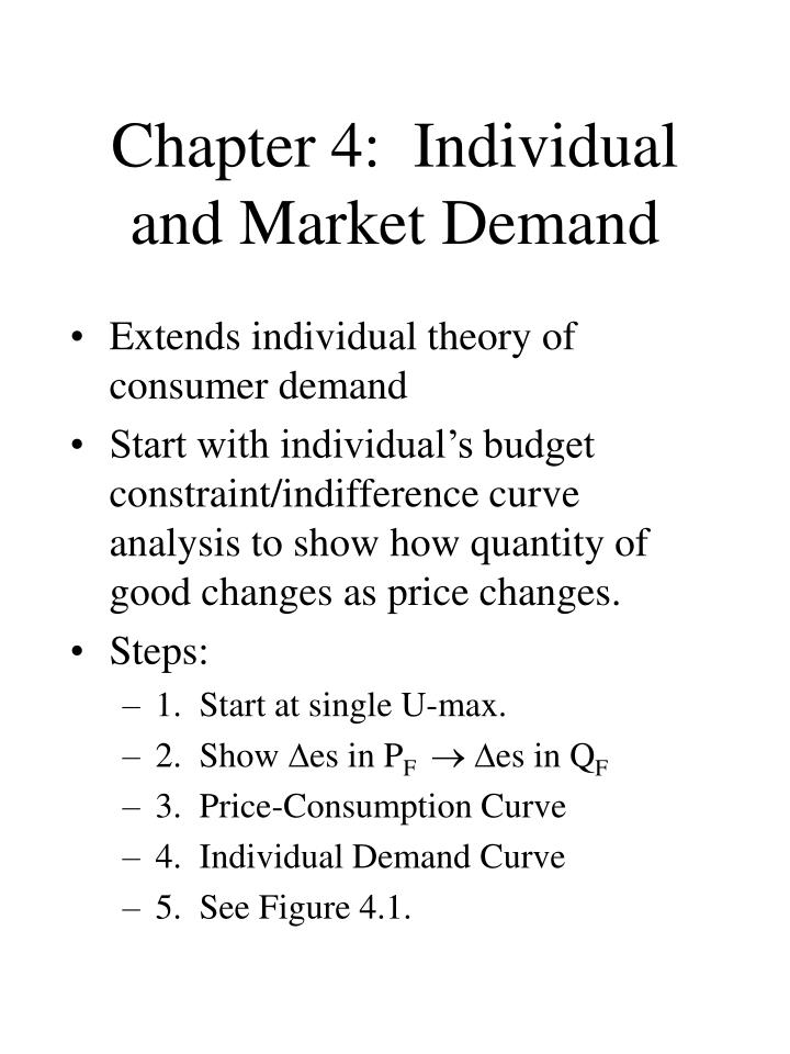 chapter 4 individual and market demand n.
