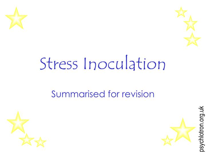 stress inoculation n.
