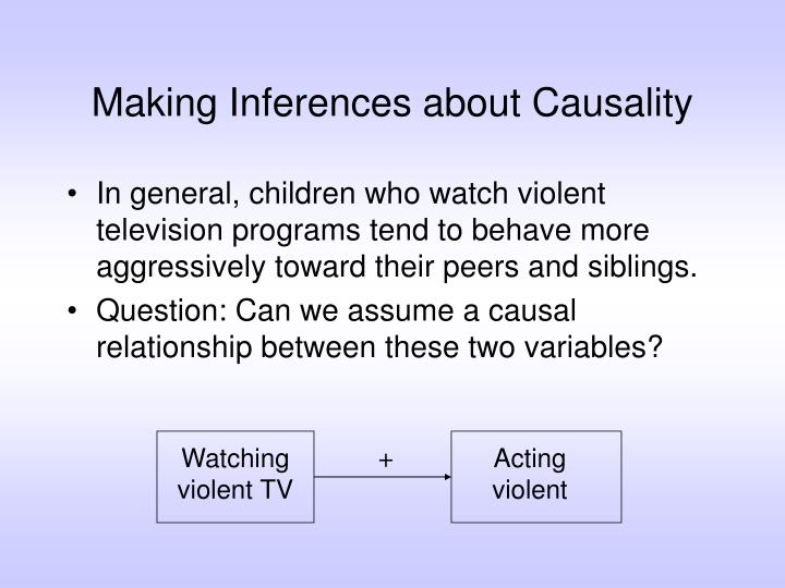 making inferences about causality n.