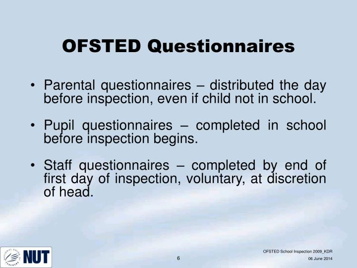 OFSTED Questionnaires