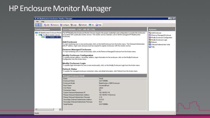 HP Enclosure Monitor Manager
