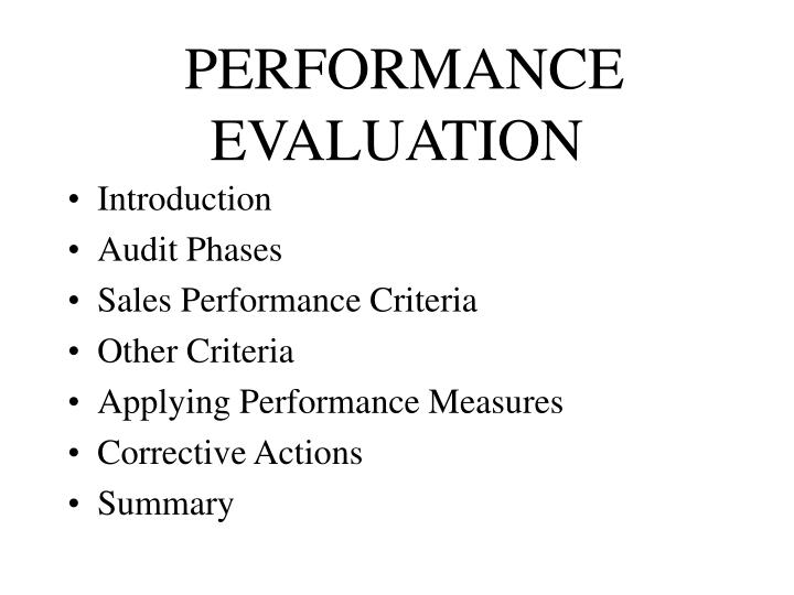 performance evaluation n.