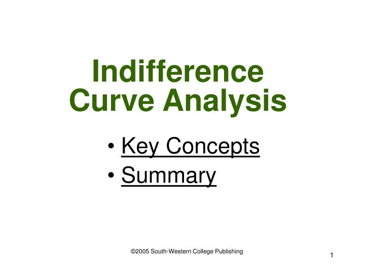 indifference curve analysis n.