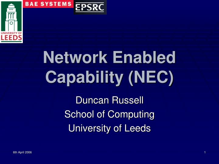 network enabled capability nec n.