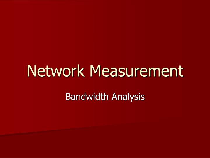 network measurement n.