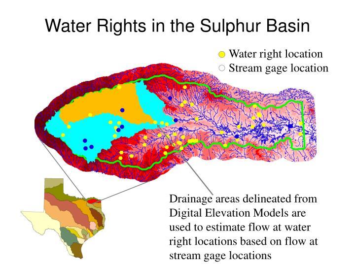 Water Rights in the Sulphur Basin