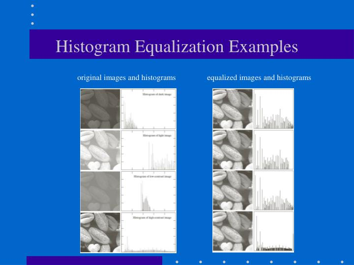 Histogram Equalization Examples