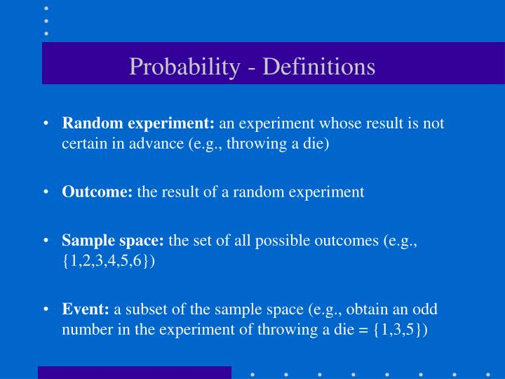 Probability - Definitions