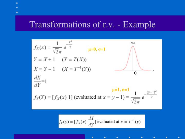 Transformations of r.v. - Example