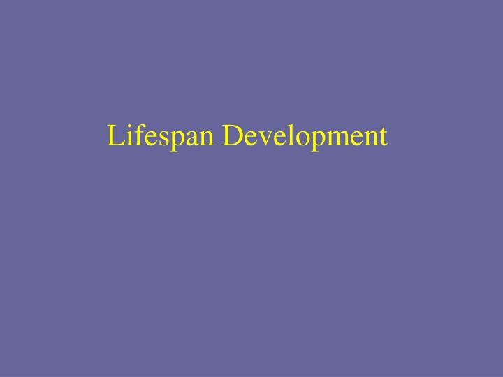 lifespan development n.