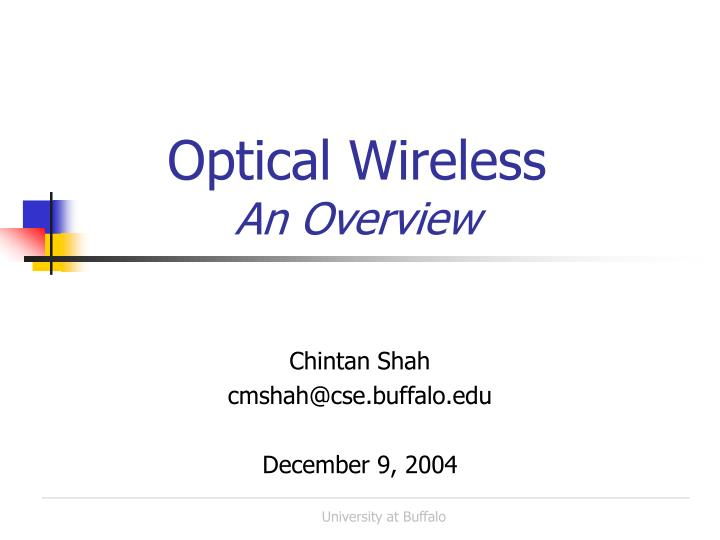 optical wireless an overview n.