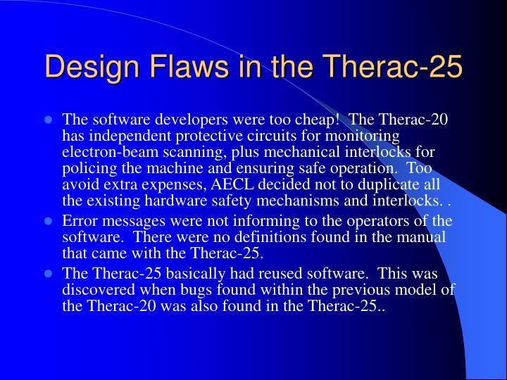 Software Design Flaws