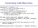 local array with ghost area