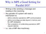 why is mpi a good setting for parallel i o
