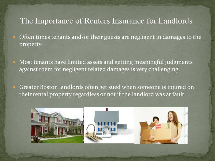 The Importance of Renters Insurance for Landlords