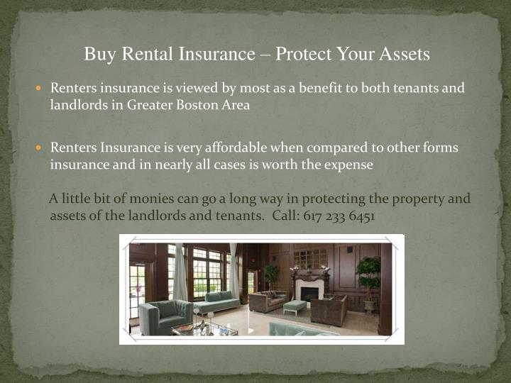 Buy Rental Insurance – Protect Your Assets
