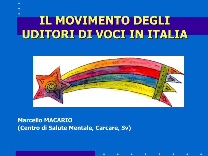 il movimento degli uditori di voci in italia n.