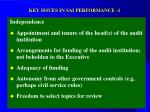 key issues in sai performance 1