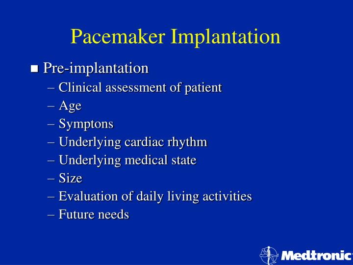 Pacemaker implantation1