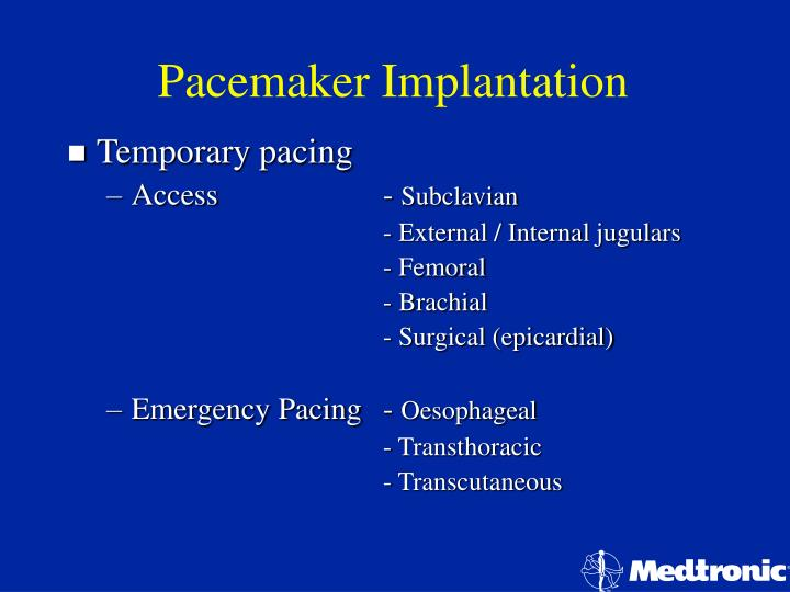 Pacemaker implantation2
