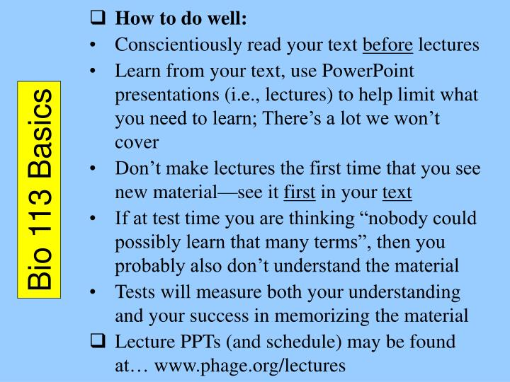 How to do well:
