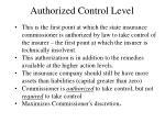 authorized control level