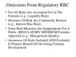 omissions from regulatory rbc