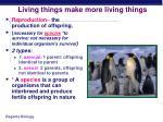 living things make more living things