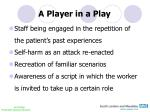 a player in a play