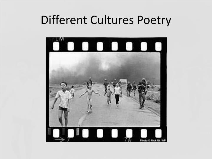different cultures poetry n.