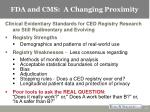 fda and cms a changing proximity10