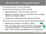 fda and cms a changing proximity13