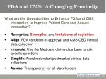fda and cms a changing proximity14