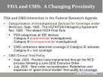 fda and cms a changing proximity3
