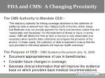 fda and cms a changing proximity7