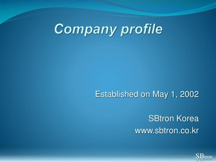 company profile n.
