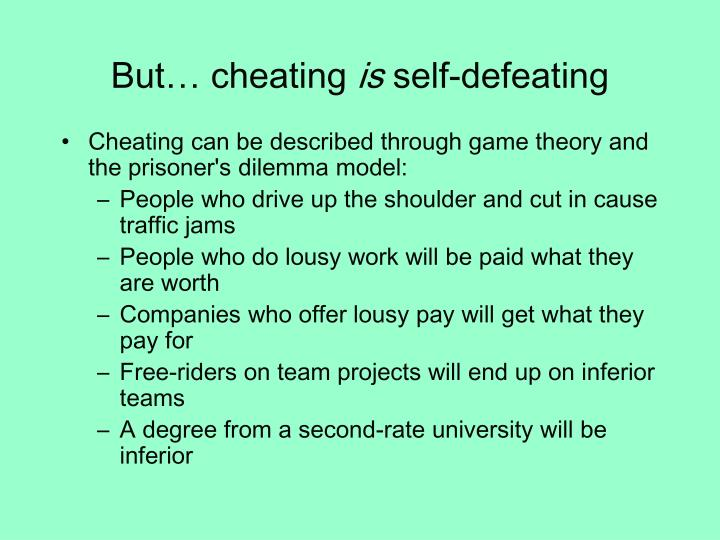 But… cheating