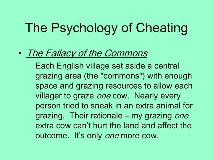 The Psychology of Cheating