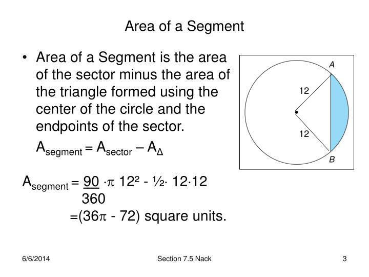 Area of a segment
