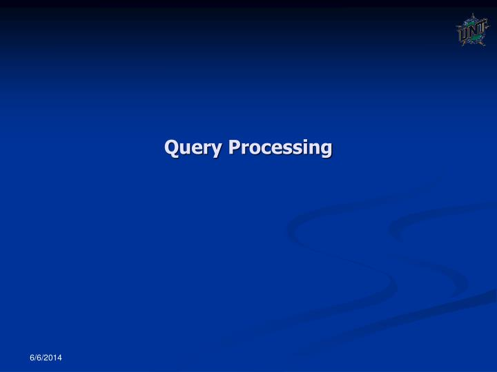 query processing n.