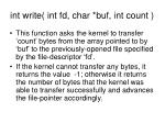 int write int fd char buf int count