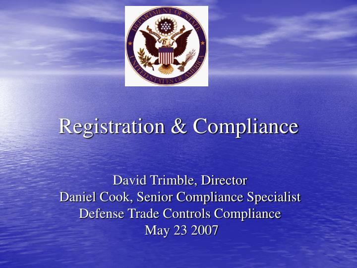 registration compliance n.